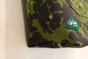 Wee Barra Danish Camo detail with Whitehill Mercantile Co label.