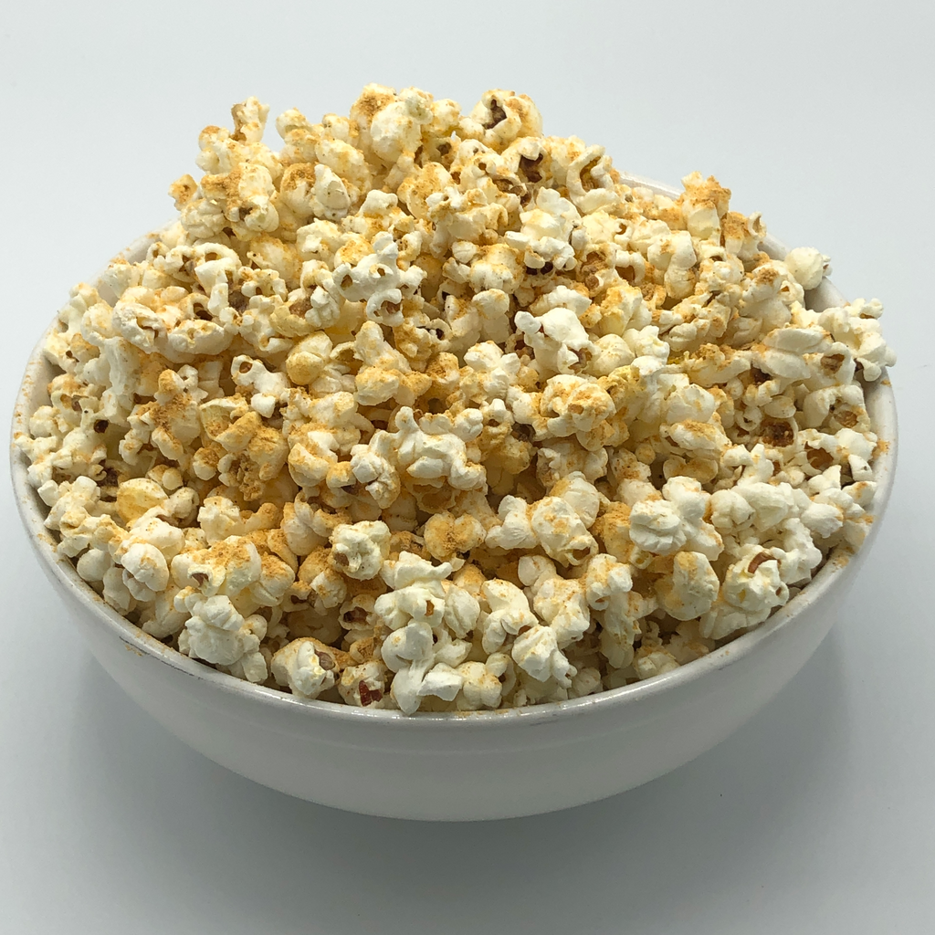 Spicy Cheese Duck Fat Popcorn