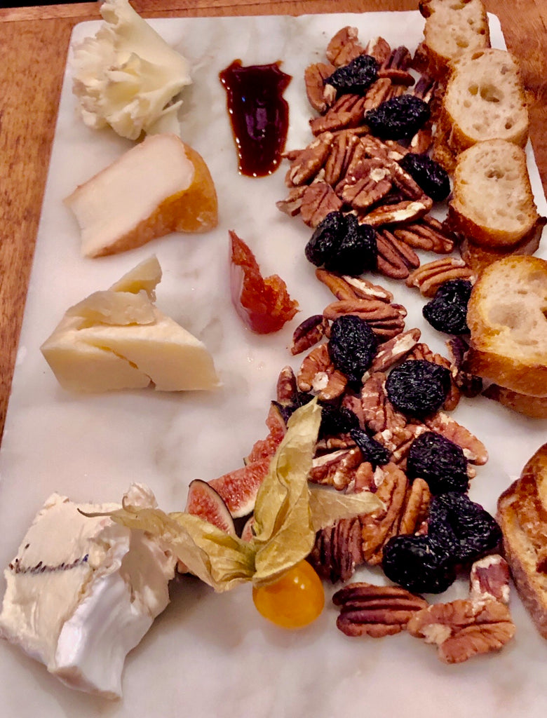 Artisan Cheese Selection + Roasted Pecans, Dried Cherries, Grilled HEWN Bread