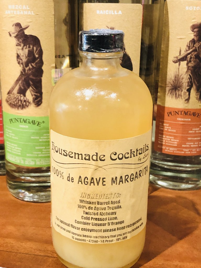 16oz Bottled 100% de Agave Margarita - Makes 3 to 4 drinks