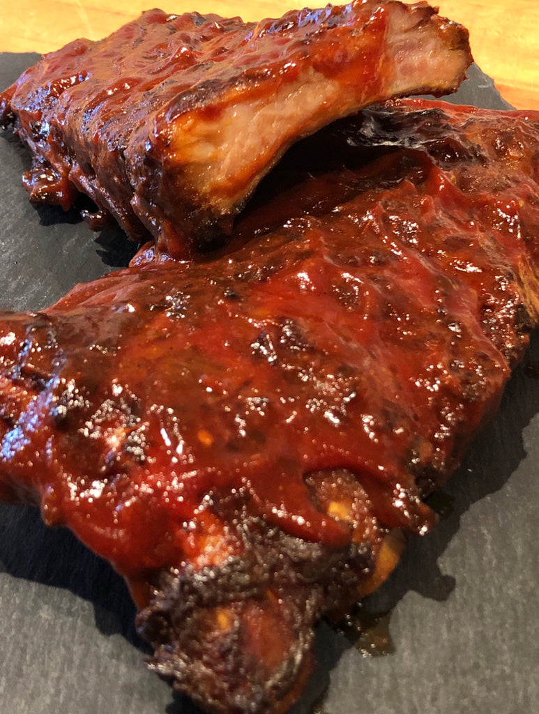 Full rack of Maple & Oak Smoked Baby Back Ribs