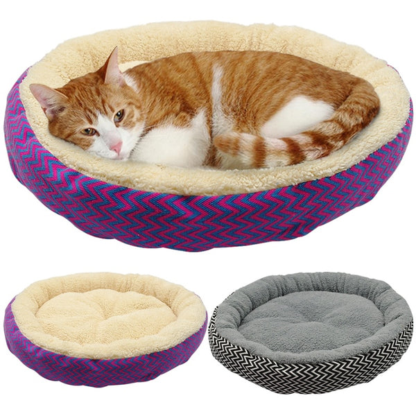 Soft Cat Bed House Round