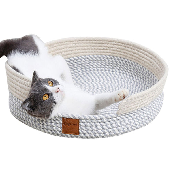 Cat Bed Basket Nest Round