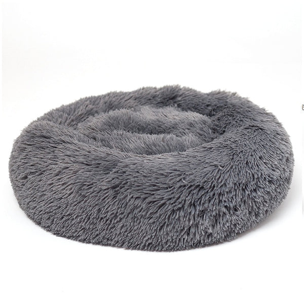 Round Plush Cat Bed House