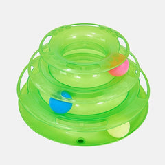 Three Levels Pet Cat Toy Tower