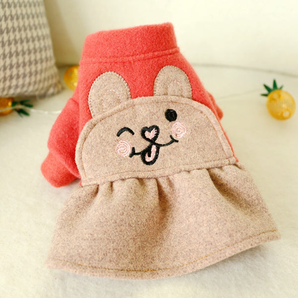 Woolen Cloth Skirt Cat Clothes