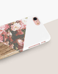 Floral Wood Mix Classic Case