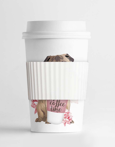 Coffee Time Floral Pug MINI Tumbler