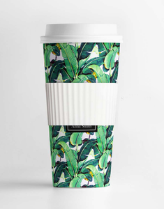 Custom Monogram Banana Leaves Tumbler