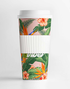 Summer Vibes Tropical Tumbler