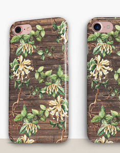 Floral Wood Classic Case