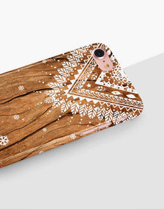 Snowflakes Wood Classic Case