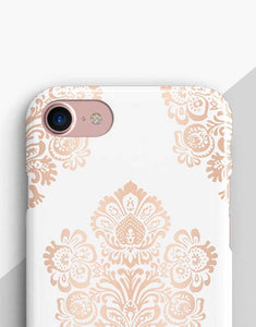 Rose Gold Floral Classic Case
