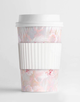 Custom Monogram Pink Marble MINI Tumbler