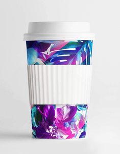 Neon Tropical Leaves MINI Tumbler
