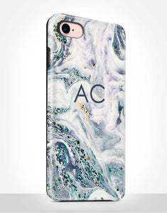 Custom Name Abstract Marble Tough Case