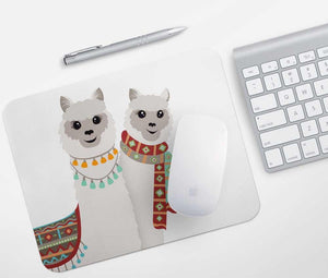 Alpaca Couple Mouse Pad