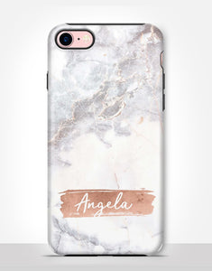 Custom Name Marble Tough Case
