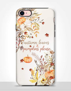 Autumn Leaves & Pumpkins Please Tough Case
