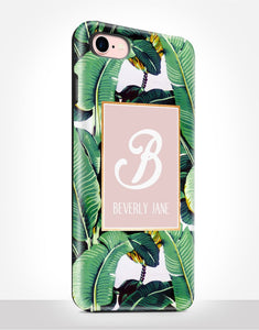 Custom Name Banana Leaves Tough Case