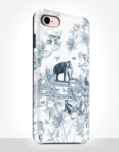 Oriental Blue Elephant Tough Case