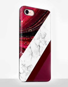 Burgundy  Marble Tough Case