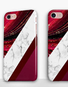 Burgundy Mix Marble Classic Case