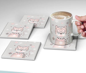 Winter Wondercat Coaster