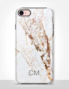 Custom Name Gold Marble Tough Case