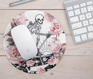 Floral Skeleton (Death Tarot) Mouse Pad
