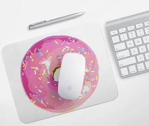 Pink Donut Mouse Pad