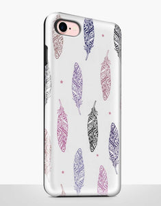 Pastel Feathers Tough Case