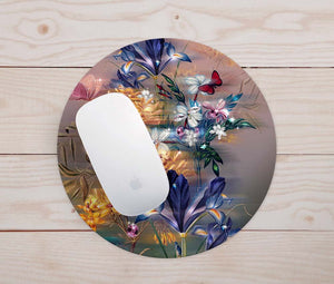 Diamond Flowers Mouse Pad