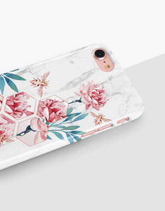 Floral Bee Marble Classic Case