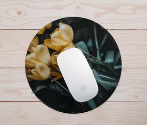 Dark Floral Mouse Pad