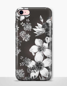 Monochrome Floral Tough Case