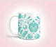 Heart Folk Art Mug