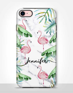 Custom Name Flamingo Tough Case