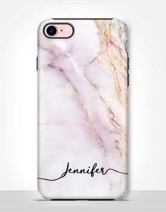 Custom Name Pastel Marble Tough Case