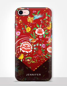 Custom Name Floral Folk Art Tough Case