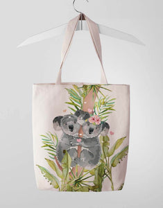 Cute Koala Couple Tote Bag