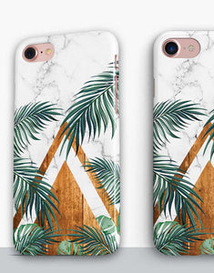Palm Leaves Marble Classic Case