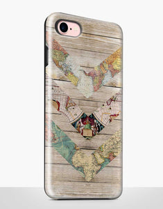 Map Wood Tough Case