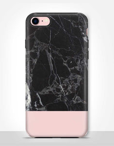 Pink And Black Marble Tough Case
