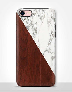 Wood and Marble Tough Case
