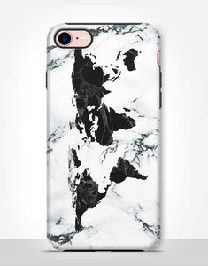 Wold Map Marble Tough Case