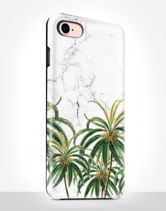 Palm Trees Marble Tough Case