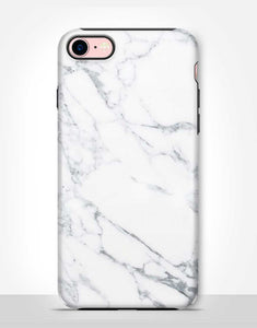 White Marble Tough Case