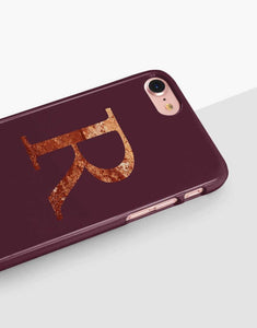 Maroon Custom Monogram Classic Case