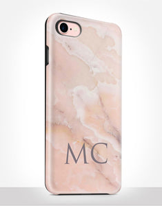 Custom Name Blush Marble Tough Case